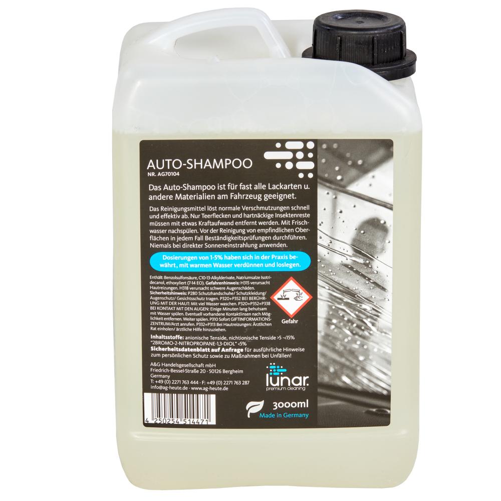 lunar. premium cleaning 3 Liter Autoshampoo Konzentrat