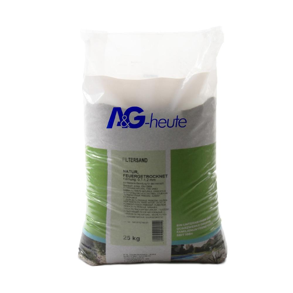 A&G-heute Min2C 25kg Filtersand Quarzsand Körnung 0.7-1.2mm