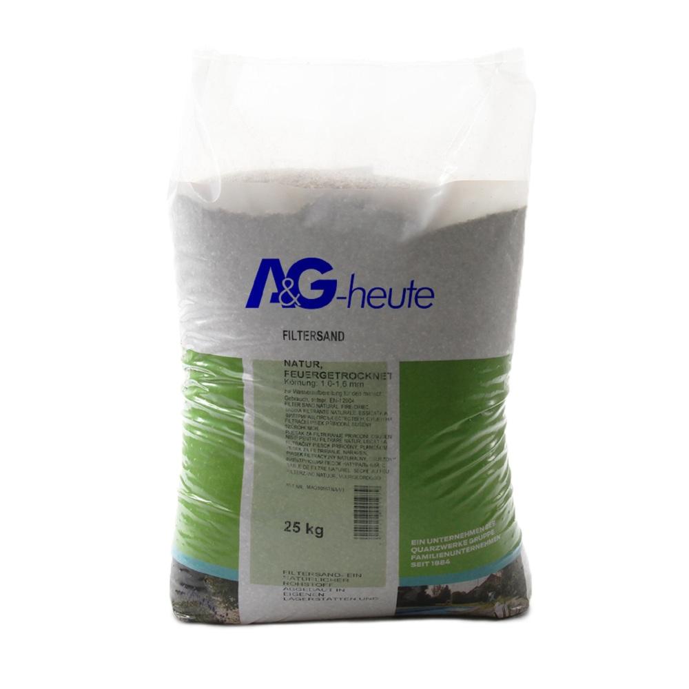 A&G-heute Min2C 25kg Filtersand Quarzsand Körnung 1.0-1.6mm