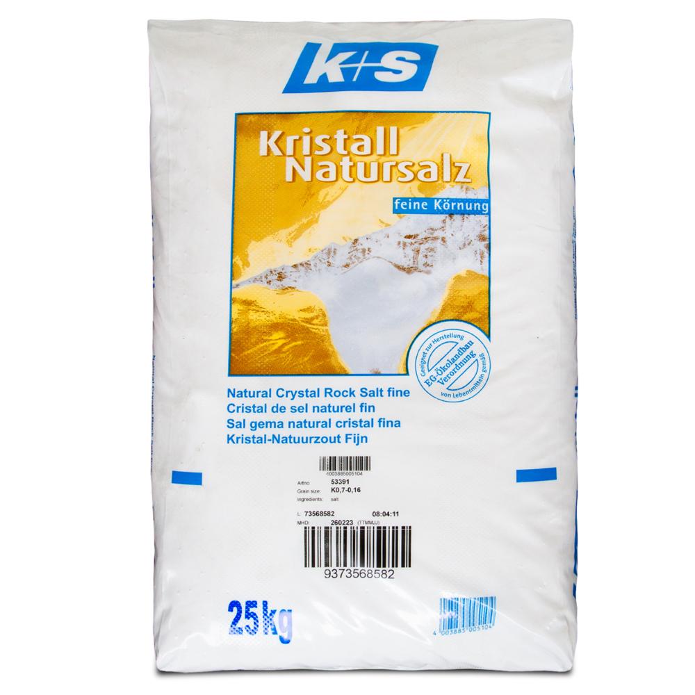 K+S 25kg Kristall Natursalz Speisesalz