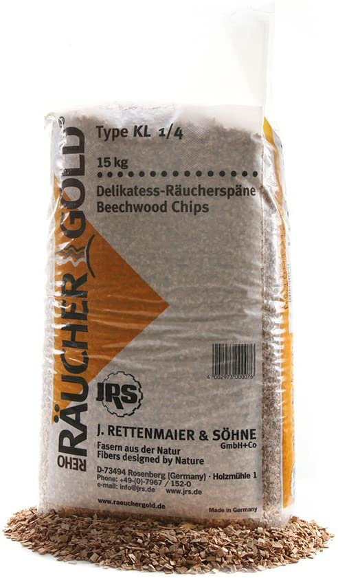 Rettenmaier 15kg Räuchergold Räucherspäne 2,0-4,5mm KL 1/4 Buche