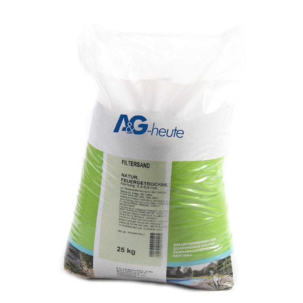 A&G-heute Min2C 25kg Filtersand Quarzsand Körnung 0.4-0.8 mm